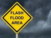 Flash Flood Area sign