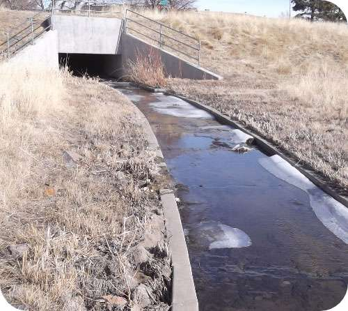 Rainwater channel